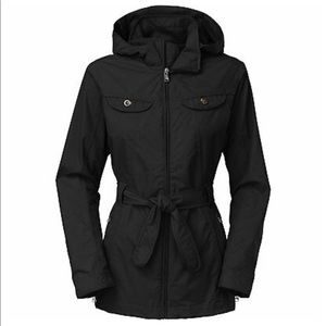 North face trench rain jacket